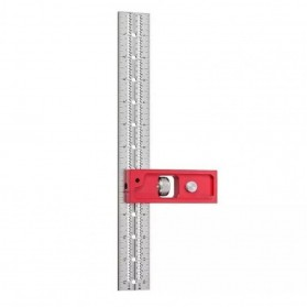 FNICEL Penggaris Combination Square Angle Ruler Woodworking 12 Inch - 0121 - Red - 1