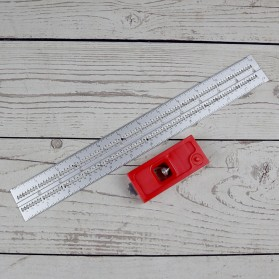 FNICEL Penggaris Combination Square Angle Ruler Woodworking 12 Inch - 0121 - Red - 2