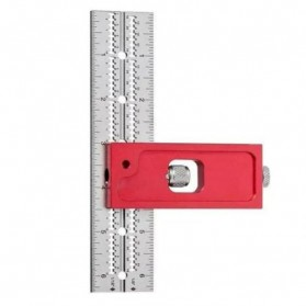 FNICEL Penggaris Combination Square Angle Ruler Woodworking 12 Inch - 0121 - Red - 3