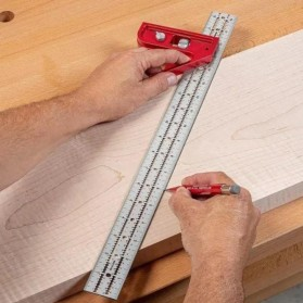FNICEL Penggaris Combination Square Angle Ruler Woodworking 12 Inch - 0121 - Red - 7