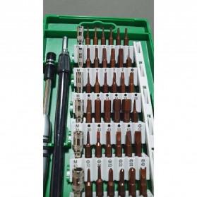 SKIUNT Obeng Set Reparasi Magnetic Head 60 in 1 - 6100 - Green - 3