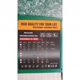 SKIUNT Obeng Set Reparasi Magnetic Head 60 in 1 - 6100 - Green - 4