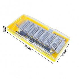 SKIUNT Obeng Set Reparasi Magnetic Head 60 in 1 - 6100 - Green - 6