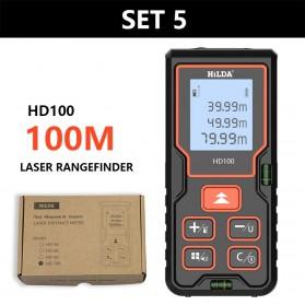 Meteran - Hilda  Meteran Digital Laser Rangefinder Inframerah 100M - HD100 - Black