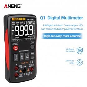 ANENG Digital Multimeter Voltage Tester - Q1 - Black/Red