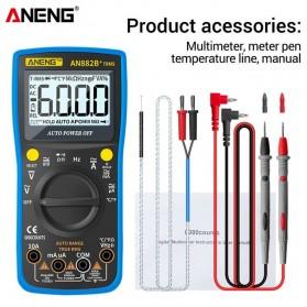 ANENG Digital Multimeter Voltage Tester - AN882B+ - Black