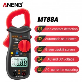 ANENG Digital Multimeter Voltage Tester Clamp - MT88A - Red