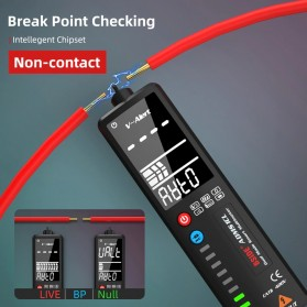 BSIDE Voltage Indicator Tester Non contact Dual AC 2.4 Inch LCD - ADMS1CL - Black - 2