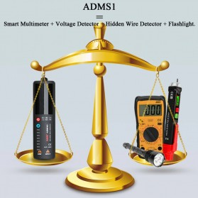 BSIDE Voltage Indicator Tester Non contact Dual AC 2.4 Inch LCD - ADMS1CL - Black - 3