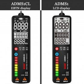 BSIDE Voltage Indicator Tester Non contact Dual AC 2.4 Inch LCD - ADMS1CL - Black - 6