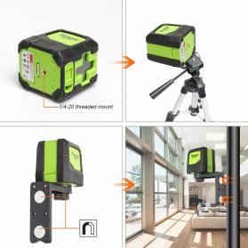 Huepar Self Leveling Projector Green Laser 2 Line Horizontal Vertical - 9011G - Black/Green - 5