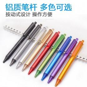 KACO TUBE Gel Pen Pena Pulpen Bolpoin Aluminium  0.5mm 1 PCS - K1024 (Black Ink) - Black - 3