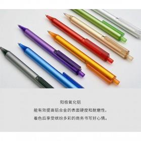 KACO TUBE Gel Pen Pena Pulpen Bolpoin Aluminium  0.5mm 1 PCS - K1024 (Black Ink) - Black - 4