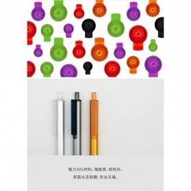 KACO TUBE Gel Pen Pena Pulpen Bolpoin Aluminium  0.5mm 1 PCS - K1024 (Black Ink) - Black - 5