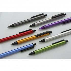 KACO TUBE Gel Pen Pena Pulpen Bolpoin Aluminium  0.5mm 1 PCS - K1024 (Black Ink) - Black - 6
