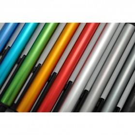 KACO TUBE Gel Pen Pena Pulpen Bolpoin Aluminium  0.5mm 1 PCS - K1024 (Black Ink) - Black - 8