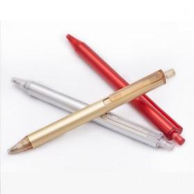 KACO TUBE Gel Pen Pena Pulpen Bolpoin Aluminium  0.5mm 1 PCS - K1024 (Black Ink) - Black - 10
