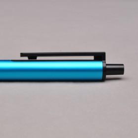 KACO TUBE Gel Pen Pena Pulpen Bolpoin Aluminium  0.5mm 1 PCS - K1024 (Black Ink) - Black - 13