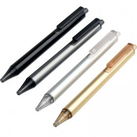 KACO TUBE Gel Pen Pena Pulpen Bolpoin Stainless Steel 0.5mm 1 PCS - K1024 (Black Ink) - Black Gold - 2