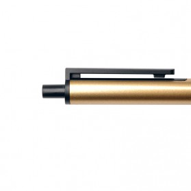KACO TUBE Gel Pen Pena Pulpen Bolpoin Stainless Steel 0.5mm 1 PCS - K1024 (Black Ink) - Black Gold - 4
