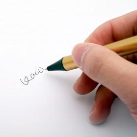 KACO TUBE Gel Pen Pena Pulpen Bolpoin Stainless Steel 0.5mm 1 PCS - K1024 (Black Ink) - Black Gold - 8