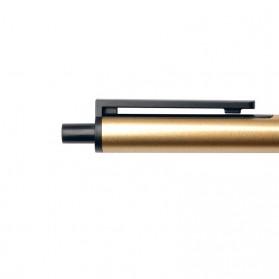 KACO TUBE Gel Pen Pena Pulpen Bolpoin Stainless Steel 0.5mm 1 PCS - K1024 (Black Ink) - Stainless Steel Color - 4