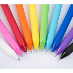 KACO PURE Candy Gel Pen Pena Pulpen Bolpoin 0.5mm 10 PCS (Colorful Ink) - K1015 - Mix Color - 9