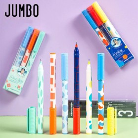 KACO JUMBO POP Gel Pen Pena Pulpen Bolpoin 0.5mm 3 PCS - KA0126 (Black Blue Red Ink) - Multi-Color - 2