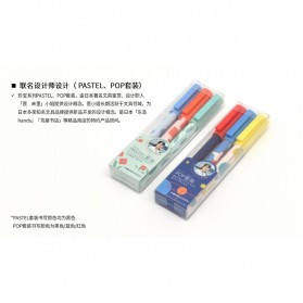 KACO JUMBO POP Gel Pen Pena Pulpen Bolpoin 0.5mm 3 PCS - KA0126 (Black Blue Red Ink) - Multi-Color - 10