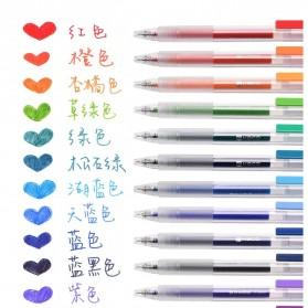 KACO TURBO Gel Pen Pena Pulpen Bolpoin 0.5mm 10 PCS - K5 (Black Ink) - Black - 6