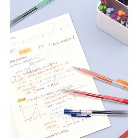 KACO TURBO Gel Pen Pena Pulpen Bolpoin 0.5mm 10 PCS - K5 (Black Ink) - Black - 8