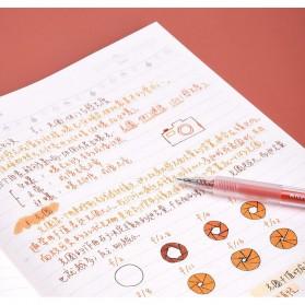 KACO TURBO Gel Pen Pena Pulpen Bolpoin 0.5mm 10 PCS - K5 (Black Ink) - Black - 9