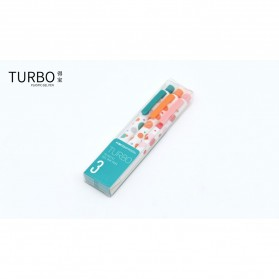 KACO TURBO Gel Pen Pena Pulpen Bolpoin 0.5mm 3 PCS - K5 (Black Ink) - Mix Color - 12