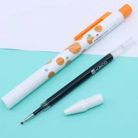 KACO TURBO Gel Pen Pena Pulpen Bolpoin 0.5mm 3 PCS - K5 (Black Ink) - Mix Color - 5