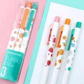 KACO TURBO Gel Pen Pena Pulpen Bolpoin 0.5mm 3 PCS - K5 (Black Ink) - Mix Color - 6