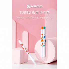KACO TURBO Gel Pen Pena Pulpen Bolpoin 0.5mm 3 PCS - K5 (Black Ink) - Mix Color - 8