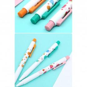 KACO TURBO Gel Pen Pena Pulpen Bolpoin 0.5mm 3 PCS - K5 (Black Ink) - Mix Color - 9