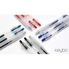 KACO KEYBO Gel Pen Pena Pulpen Bolpoin Transparent 0.5mm 10 PCS - KA0124 (Black Ink) - Black - 4