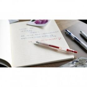 KACO KEYBO Gel Pen Pena Pulpen Bolpoin Transparent 0.5mm 10 PCS - KA0124 (Black Ink) - Black - 9