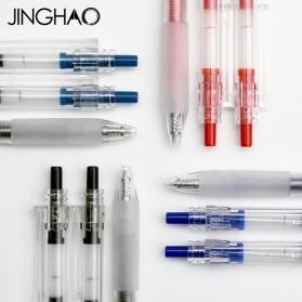 KACO KEYBO Gel Pen Pena Pulpen Bolpoin Transparent 0.5mm 10 PCS - KA0124 (Black Ink) - Black - 11