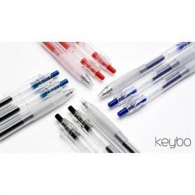 KACO KEYBO Gel Pen Pena Pulpen Bolpoin Transparent 0.5mm 3 PCS - K1003(Black Blue Red Ink) - Mix Color - 4