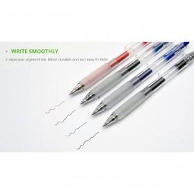 KACO KEYBO Gel Pen Pena Pulpen Bolpoin Transparent 0.5mm 3 PCS - K1003(Black Blue Red Ink) - Mix Color - 6