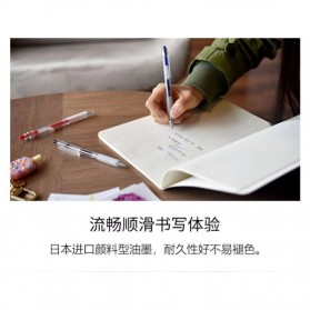 KACO KEYBO Gel Pen Pena Pulpen Bolpoin Transparent 0.5mm 3 PCS - K1003(Black Blue Red Ink) - Mix Color - 10