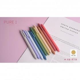 KACO PURE Vintage Gel Pen Pena Pulpen Bolpoin 0.5mm 5 PCS - K1015(Colorful Ink) - Mix Color - 2