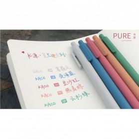 KACO PURE Vintage Gel Pen Pena Pulpen Bolpoin 0.5mm 5 PCS - K1015(Colorful Ink) - Mix Color - 4