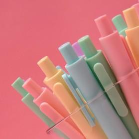 KACO PURE Vintage Gel Pen Pena Pulpen Bolpoin 0.5mm 5 PCS - K1015(Colorful Ink) - Mix Color - 8