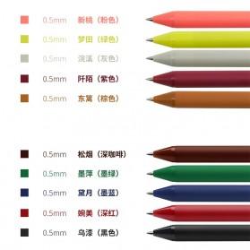 KACO PURE Vintage Gel Pen Pena Pulpen Bolpoin 0.5mm 5 PCS - K1015(Colorful Ink) - Mix Color - 18