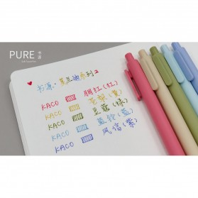 KACO PURE Morandi II Gel Pen Pena Pulpen Bolpoin 0.5mm 5 PCS (Colorful Ink) - Mix Color - 6