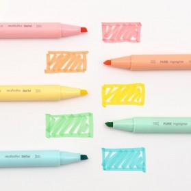 KACO PURE H Plastic Highlighter I Spidol Stabilo Marker Liner 5 PCS - K1045 (Colorful Ink) - Mix Color - 4