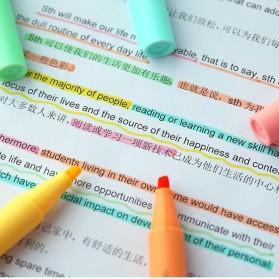 KACO PURE H Plastic Highlighter I Spidol Stabilo Marker Liner 5 PCS - K1045 (Colorful Ink) - Mix Color - 5